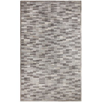Ritz Hand-Woven Gray Area Rug Rug Size: Rectangle 5 x 8
