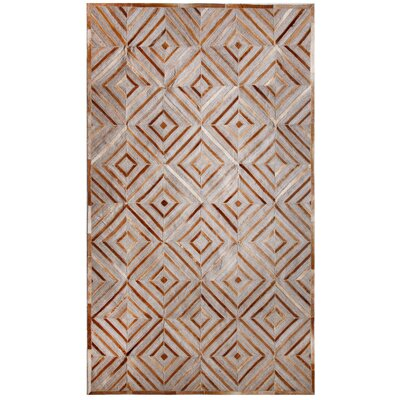 Ritz Hand-Woven Gray/Beige Area Rug Rug Size: Rectangle 5 x 8