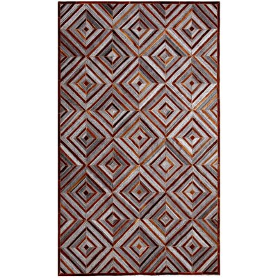 Ritz Hand-Woven Gray/Brown Area Rug Rug Size: Rectangle 5 x 8