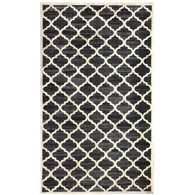 Ritz Hand-Woven Black/Beige Area Rug Rug Size: Rectangle 8 x 11