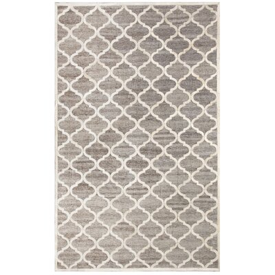 Ritz Hand-Woven Beige/Gray Area Rug Rug Size: Rectangle 5 x 8