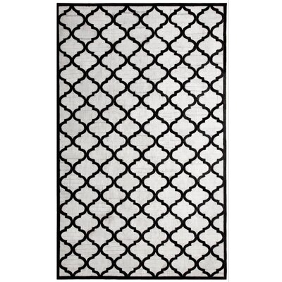 Ritz Hand-Woven Gray/Black Area Rug Rug Size: 8 x 11