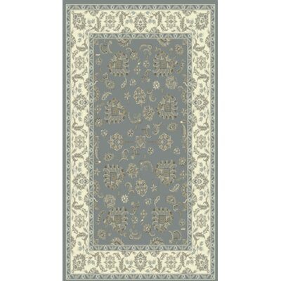 Legacy Light Blue/Ivory Area Rug Rug Size: Rectangle 710 x 1010