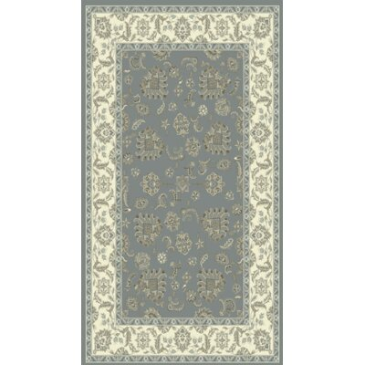 Legacy Light Blue/Ivory Area Rug Rug Size: Rectangle 2 x 36