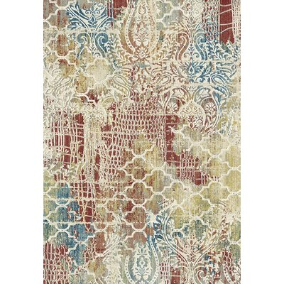 Prism Red/Beige Area Rug Rug Size: Rectangle 36 x 56