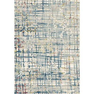 Prism Blue Area Rug Rug Size: Rectangle 36 x 56