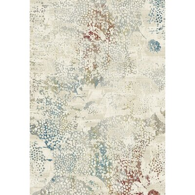 Prism Beige/Gray Area Rug Rug Size: Rectangle 36 x 56