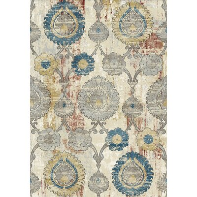 Prism Gray/Beige Area Rug Rug Size: Rectangle 36 x 56