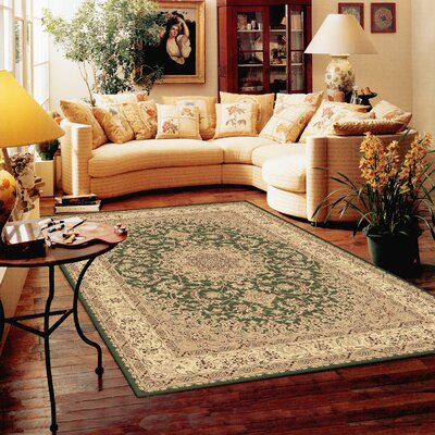 Atterbury Duncaster Green Rug Rug Size: Rectangle 710 x 1010
