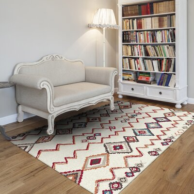 Nomad Ivory Area Rug Size: Rectangle 53 x 77