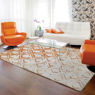 Vogue Gray/Rust Area Rug Rug Size: 8 x 11