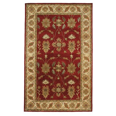 Charisma Parson Red / Ivory Area Rug Rug Size: Rectangle 96 x 136