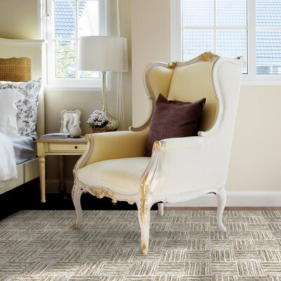 Polar Ivory / Light Olive Geometric Area Rug Rug Size: 36 x 56