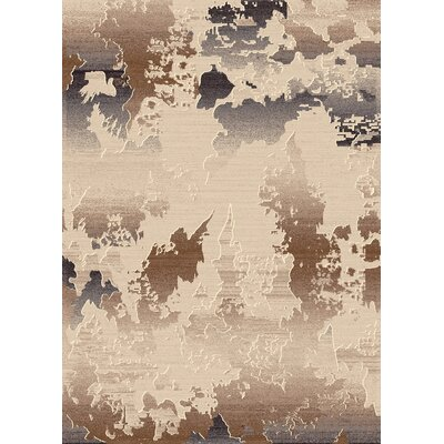 Treasure Cream Abstract Rug Rug Size: Rectangle 710 x 1010