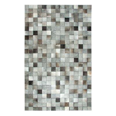 Premium Leatherwork Gray Area Rug Rug Size: 3 x 5