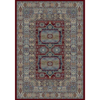 Ancient Garden Red Area Rug Rug Size: 53 x 77