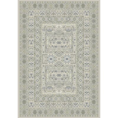 Ancient Garden Silver/Gray Area Rug Rug Size: 67 x 96
