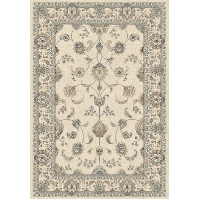 Ancient Garden Ivory Area Rug Rug Size: Rectangle 53 x 77
