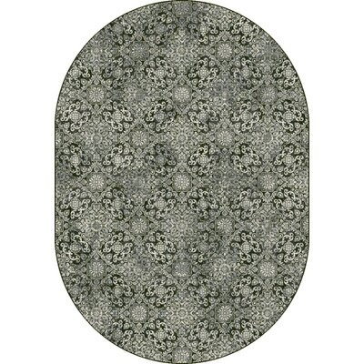 Ancient Garden Steel Blue Area Rug Rug Size: Oval 67 x 96