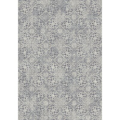 Ancient Garden Light Blue Area Rug Rug Size: Rectangle 53 x 77