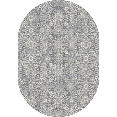 Ancient Garden Light Blue Area Rug Rug Size: Oval 53 x 77
