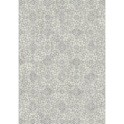 Ancient Garden Silver/Gray Area Rug Rug Size: 27 x 47
