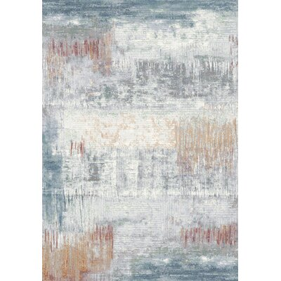 Rodrigo Blue/White Area Rug Rug Size: Rectangle 67 x 96