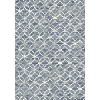 Eclipse Blue Area Rug Rug Size: Rectangle 53 x 77