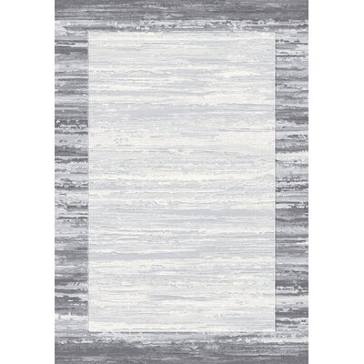 Eclipse Gray Area Rug Rug Size: Rectangle 311 x 57