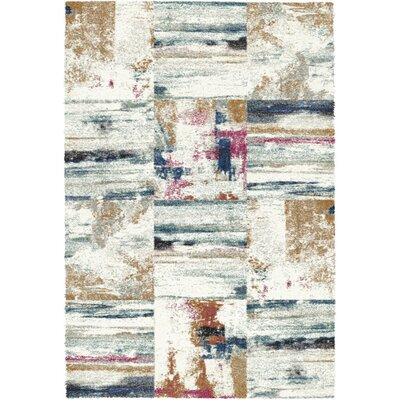 Mehari Ivory/Gray Area Rug Rug Size: Rectangle 53 x 77