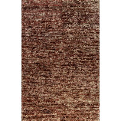 Gem Hand-Woven Red Area Rug Rug Size: Rectangle 4 x 6