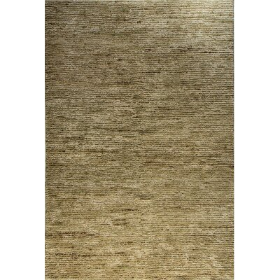 Gem Hand-Woven Light Green Area Rug Rug Size: 8 x 11