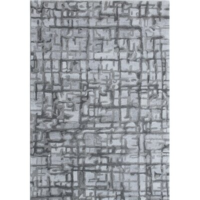 Posh Hand-Woven Gray Area Rug Rug Size: Rectangle 4 x 6