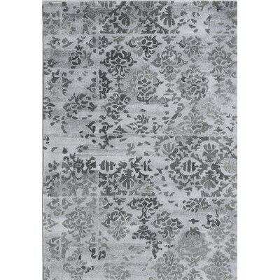 Posh Hand-Woven Gray Area Rug Rug Size: Rectangle 2 x 4