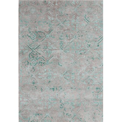 Posh Hand-Woven Gray/Green Area Rug Rug Size: Rectangle 4 x 6