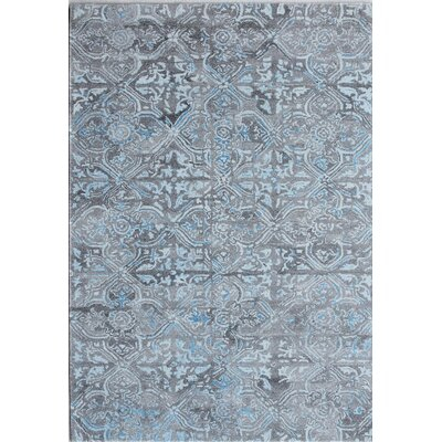 Posh Hand-Woven Gray/Blue Area Rug Rug Size: Rectangle 5 x 8