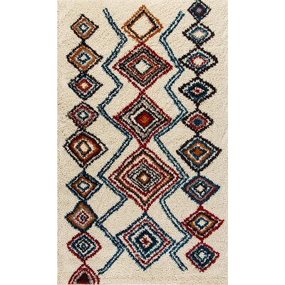 Nomad Ivory/Blue Area Rug Rug Size: Rectangle 53 x 77