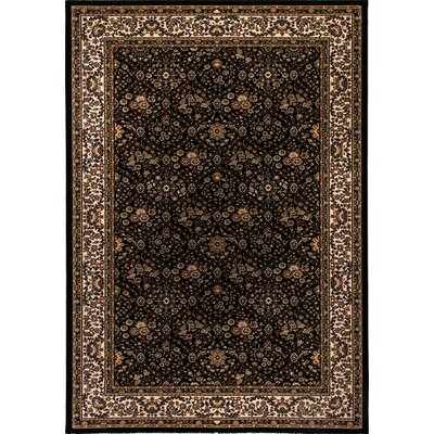 Cirro Black Evans Area Rug Rug Size: Rectangle 22 x 47