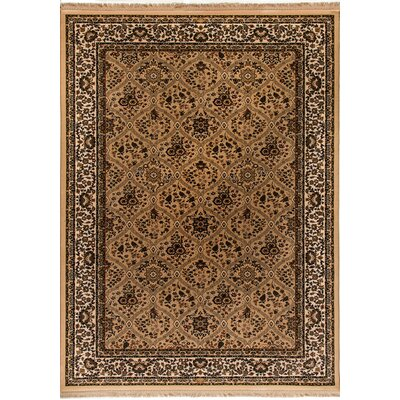 Cirro Latte Evans Linen Area Rug Rug Size: Rectangle 22 x 47