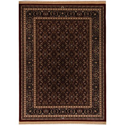 Cirro Red / Brown Wheeler Area Rug Rug Size: 22 x 47