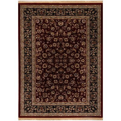 Cirro Red Fisher Area Rug Rug Size: 57 x 82