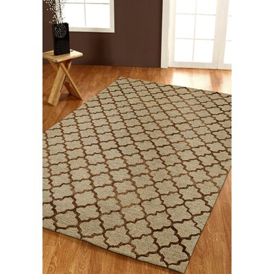 Broadway Geometric Gold Area Rug Rug Size: 8 x 11