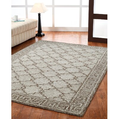 Polar Ivory/Brown Geometric Area Rug Rug Size: 8 x 11