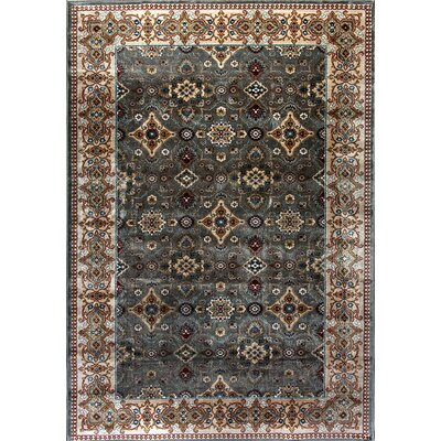 Venice Beige/Gray Area Rug Rug Size: Rectangle 92 x 1210
