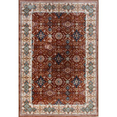 Venice Brown Area Rug Rug Size: 53 x 77