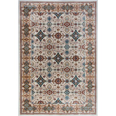 Venice Beige/Brown Area Rug Rug Size: Rectangle 53 x 77