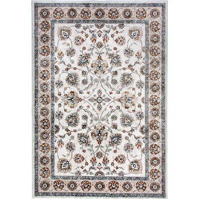 Venice Beige/Green Area Rug Rug Size: Rectangle 36 x 56