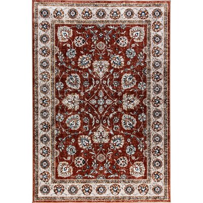 Venice Red/Beige Area Rug Rug Size: Rectangle 36 x 56