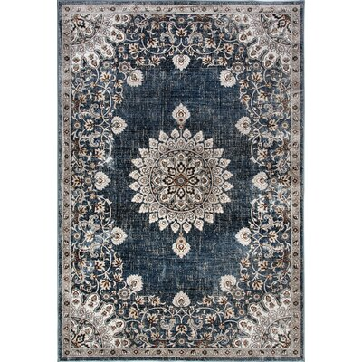 Venice Light Blue Area Rug Rug Size: Rectangle 53 x 77
