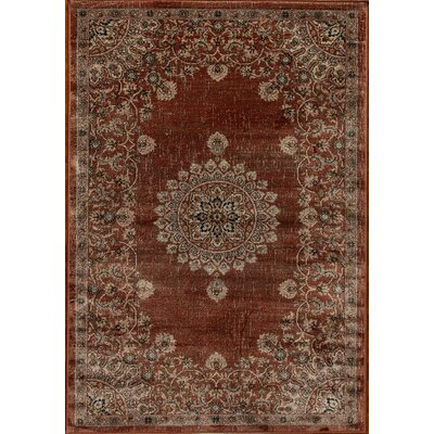 Venice Brown Area Rug Rug Size: 67 x 96